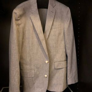 J. Crew Ludlow gray blazer in stretch cotton-linen